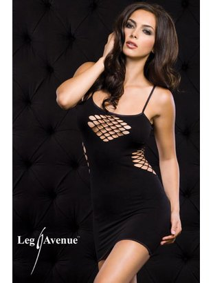 Fishnet mini dress