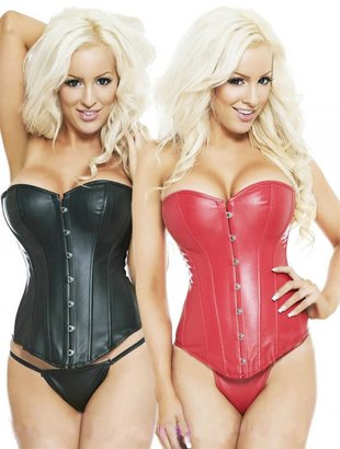 Korsetter - Leather look corset