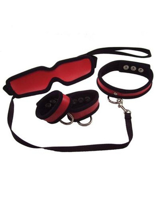 Sex and mischief 5 Piece Red Restraint Kit