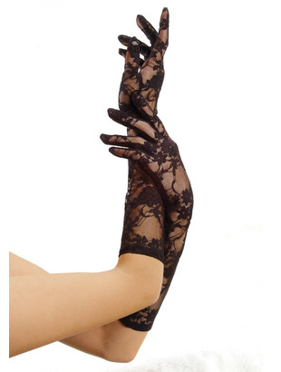 Tilbehør - Elbow lenght stretch lace gloves