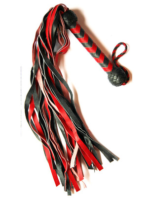 Black and red flogger